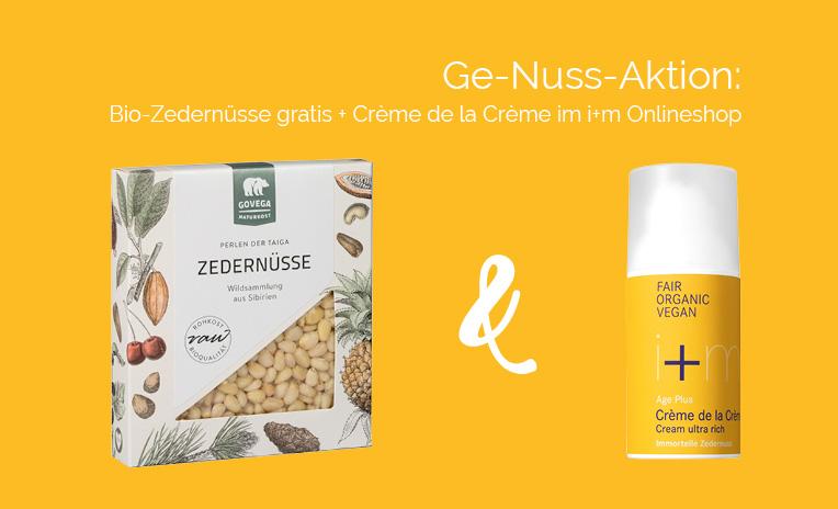 Ge-Nuss-Aktion: Bio-Zedernüsse + Crème de la Crème