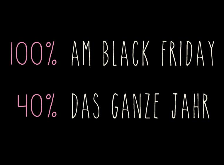 Wir spenden 100% am Black Friday